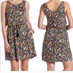Lucky Brand comfy mosaic T-shirt dress M